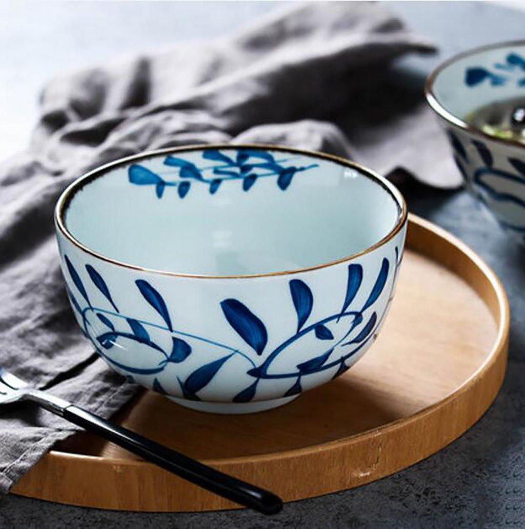 サラダボウルフルーツボウルNoodles Bowls Household japanese-styleセラミックボウルサラダボウル6 – 7-inch手描きUnderglaze Colored Rice Bowl Cereal BowlRamen Bowl 15*8.5cm B07CMBD1N8  15*8.5cm