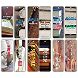Creanoso Book Reading Famous Quote Sayings Inspirational Bookish Bookmarks (60-Pack) – Inspiring Motivational Bookmarker Set – Reading Encouragement Gift Ideas for Men, Women, Adults, Bibliophiles
