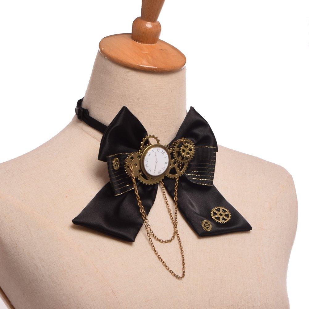 Mehrfarbig 2 BLESSUME Unisex Gothic Gear Bowtie Vintage Steampunk Viktorianischen Fliege Krawatte