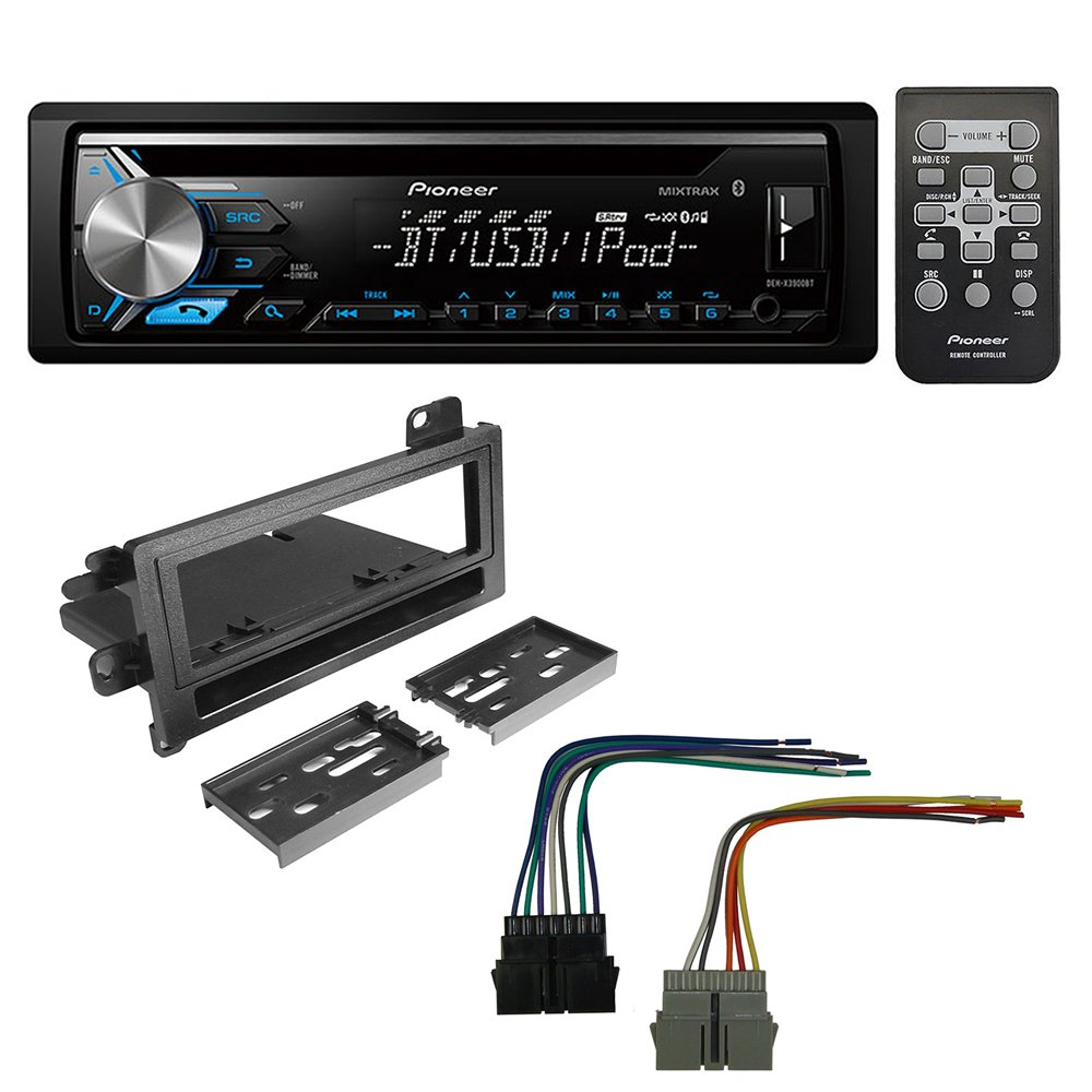 Pioneer Aftermarket Car Radio Stereo CD Player Dash Install Mounting Kit + Stereo Wire Harness for Select Dodge Eagle Plymouth Jeep Vehicles