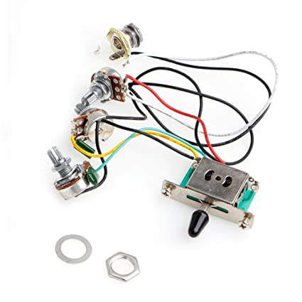 ulkeme 1pc 5 way switch strat stratocaster guitar 250k pots knobs wiring harness pickup Strat Wiring