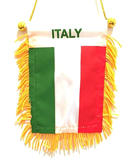 Amazoncom It Designs Nyc Small Italian Mini Italy Car Flag Auto