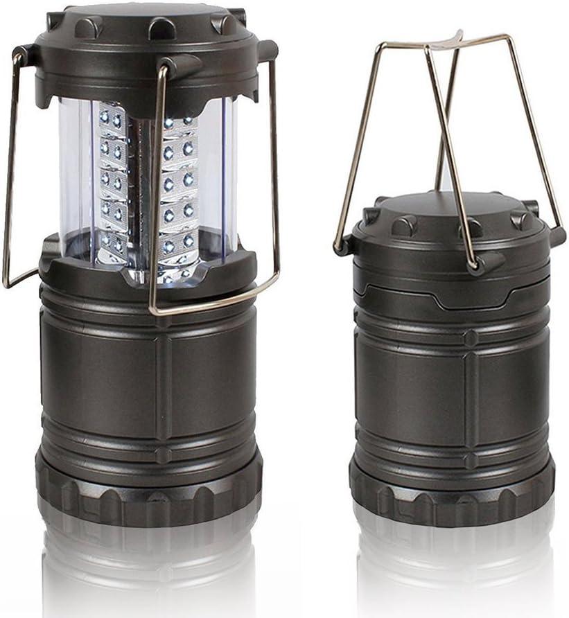 theGizmoMart Ultra Bright Portable LED Camping Lantern Flashlight Black