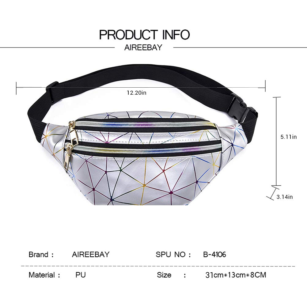 Bonita Impermeable Ri/ñonera para Mujer Plegable con Cintura Hihey geom/étrica