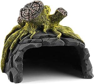 OMEM Reptile Breeding Box Shelter Humidify Hide CaveHabitat Decor Terrarium Hideout Caves Ceramics