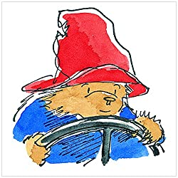 Marmont Hill Paddington Takes The Wheel Canvas Wall Art, 32 By 32-inch
