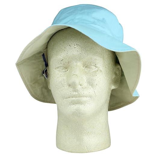 Ladies Ponytail Bucket Hat Womens Sun Hat - Blue -  Amazon.co.uk  Clothing 22fca2dd2459