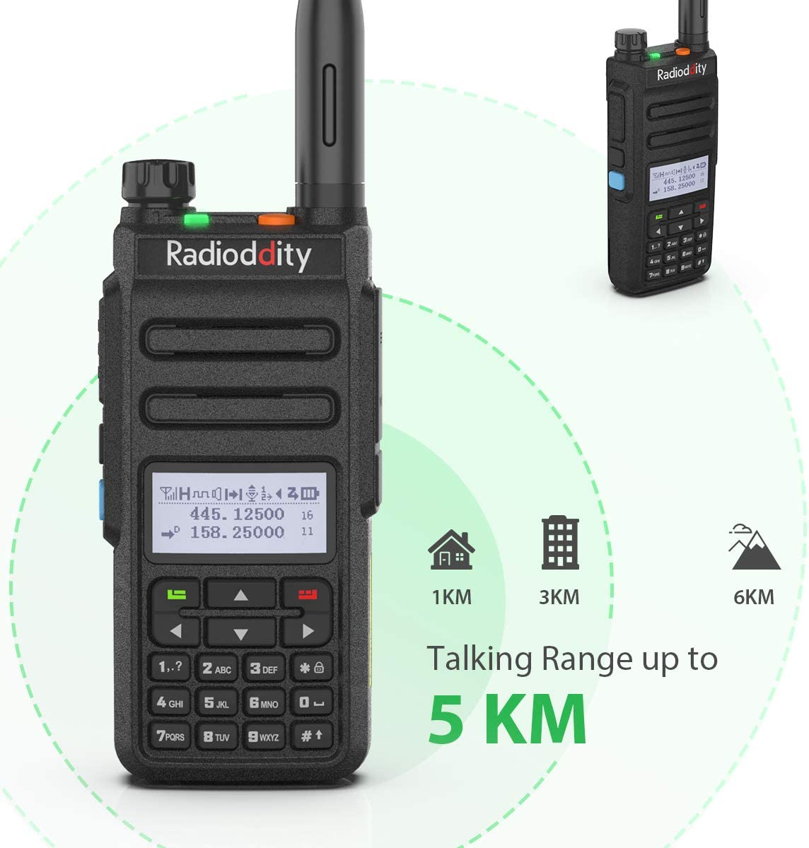 Remote Speaker Mic Radioddity GD-77 Dual Band Dual Time Slot DMR Digital//Analog Two Way Radio VHF//UHF 1024 Channels Ham Amateur Radio w//Free Programming Cable and Charger