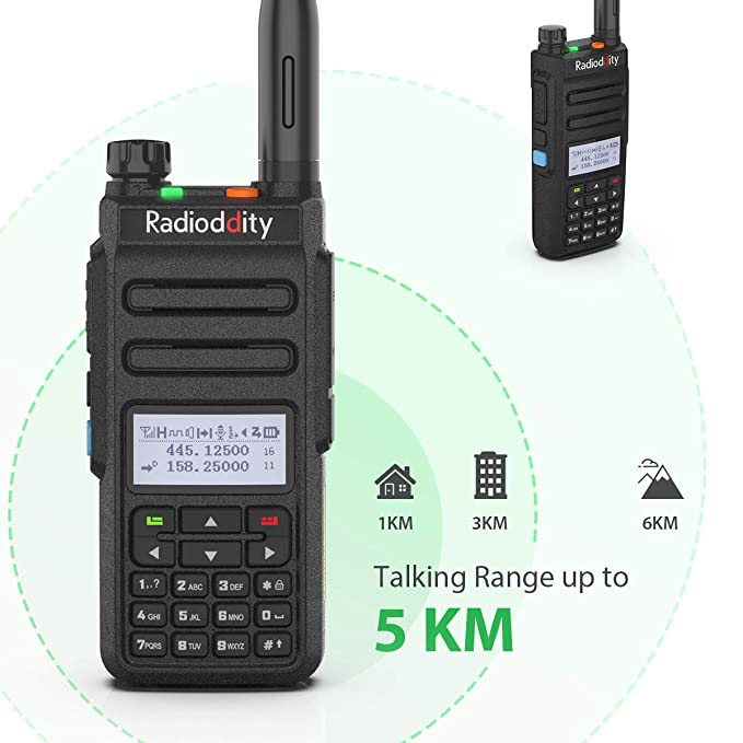 Radioddity GD-77 Dual Band Dual Time Slot DMR Digital/Analog Two Way Radio  VHF/UHF 1024 Channels Ham Amateur Radio w/Free Programming Cable and