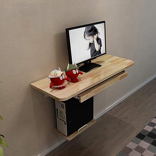 Mesa flotante de pared con estantes de almacenamiento, mesa de ...