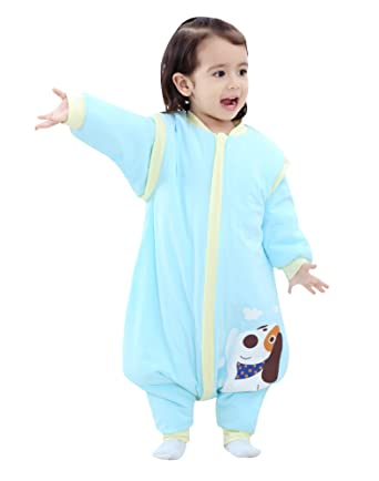 9723ce4e51 Cyuuro Early Walker Sleeping Bag Removable Sleeve Baby Wearable Blanket  with Feet