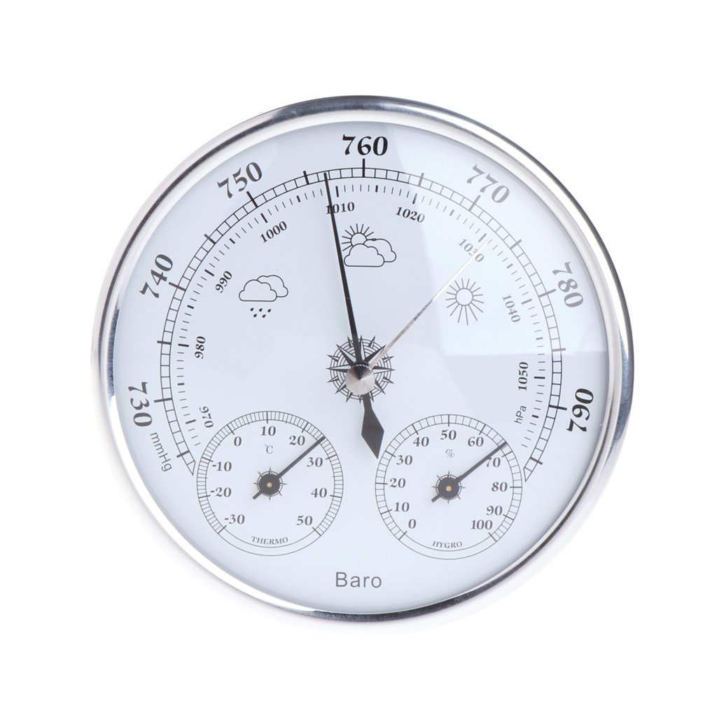 HotelLee Household Weather Station Barometer Thermometer Hygrometer Wall Hanging Indoor Thermometer