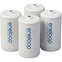 Deals on 4PK Panasonic BQ-BS1E4SA eneloop D Size Battery Adapters AA