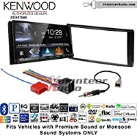 Volunteer Audio Kenwood DDX9704S Double Din Radio Install Kit with Apple Carplay Android Auto Fits 2006-2012 Hyundai Santa Fe