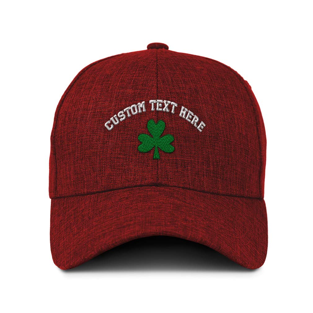 Custom Twill Baseball Cap Shamrock Embroidery Design Casual Hats for Men /& Women