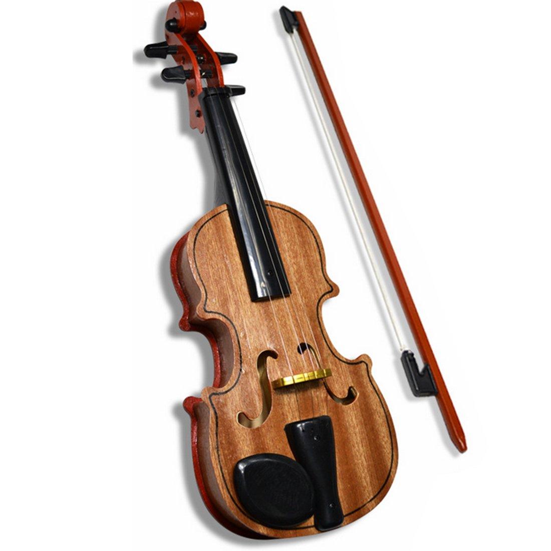Jouet de Violon, Foxom Émulatoire Bois Violon Jouet D'imitation Éducatif Instrument de Musique
