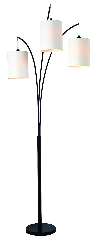 Kenroy Home Leah Arc Floor Lamp, Black