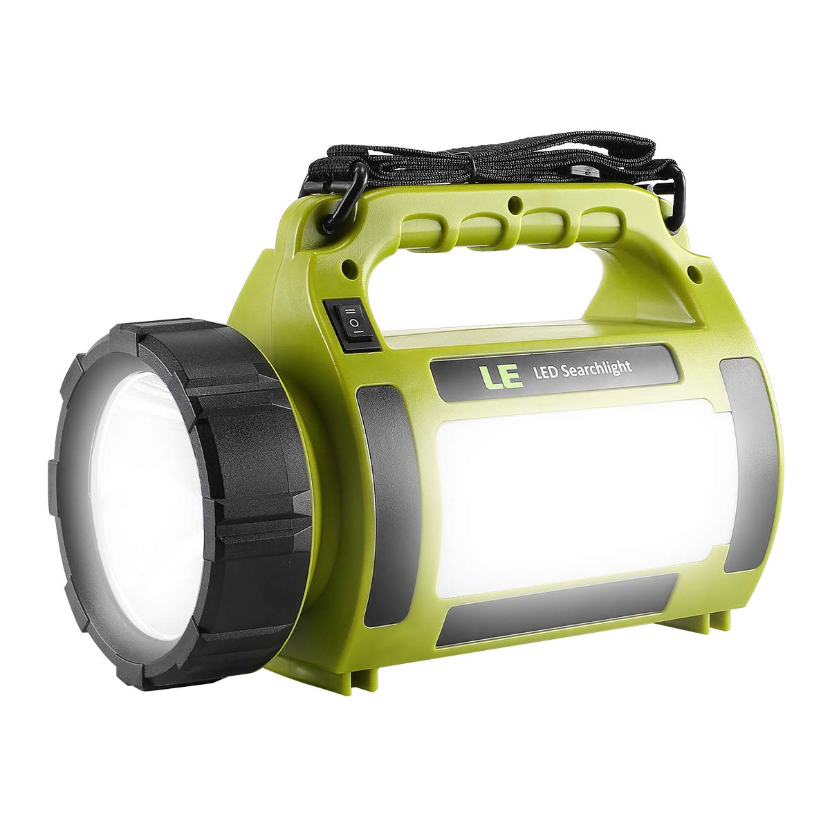 LE Rechargeable LED Camping Lantern, 1000LM, 5 Light Modes, 3600mAh Power Bank, IPX4 Waterproof, Perfect Lantern Flashlight for Hurricane Emergency, Hiking, Home and More, USB Cable Included by LE