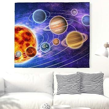 Atractivo pared Alfombras Multicolor el sistema solar planetas Universo pared tapiz de estrellas Universo pared techo