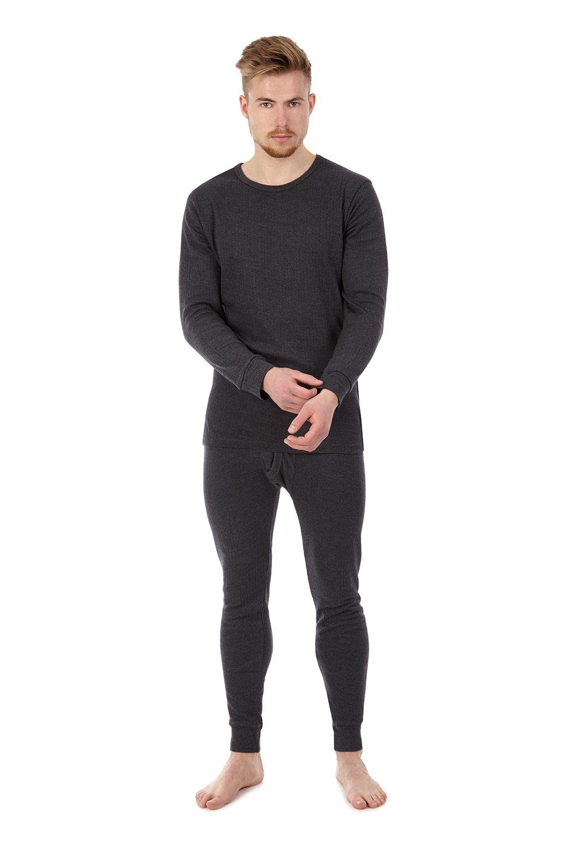 Herren Thermo Unterhemd + Unterhose mit Innenfleece Ski Sportunterwäsche Garnitur
