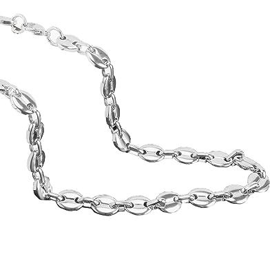 meilleures baskets 41e68 80f1e AURSTORE® Chaîne colliers pour homme acier inoxydable maille grain de café  longueur 56 cm