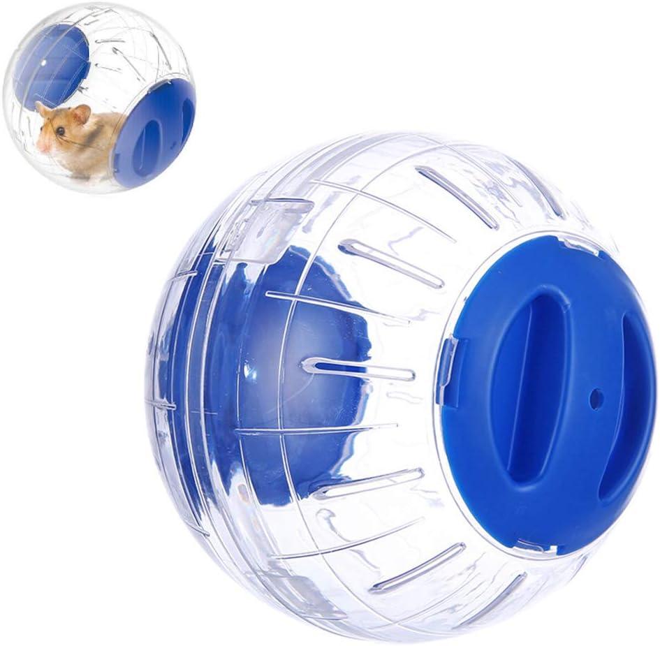 Uyuke Pelota de Ejercicio para hámster, 12 cm Mini plástico Transparente Hamster Run Ejercicio Pelota de Juguete Juguete de Entrenamiento para Mascotas para Animales pequeños