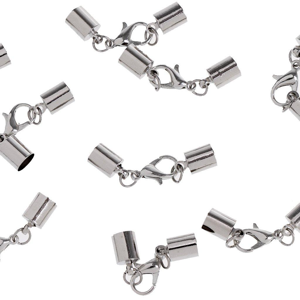 Charm Endkappen Verschluss Baoblaze 20 St/ücke Karabinerverschluss f/ür DIY Erkentnisse