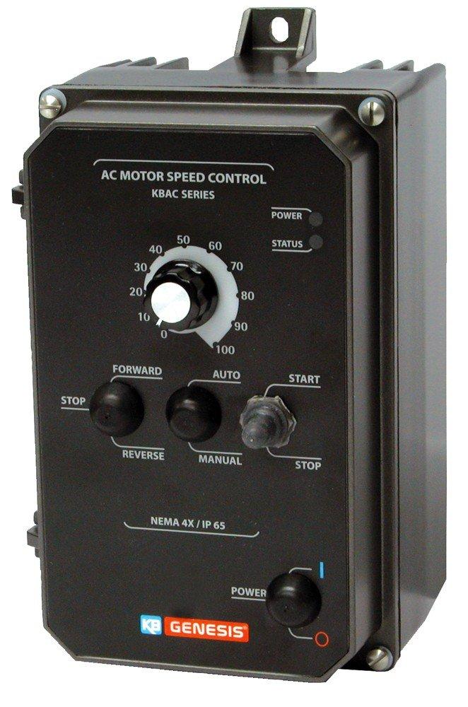 KB Electronics, 9987, KBAC-24D (GRAY), 1HP, 1-Phase, 110-120V;200-240V (Input), Nema 4X Enclosure, Variable Frequency Drives
