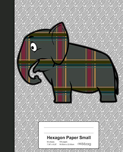Hexagon Paper Small: Elephant Plaid Book (Animals)