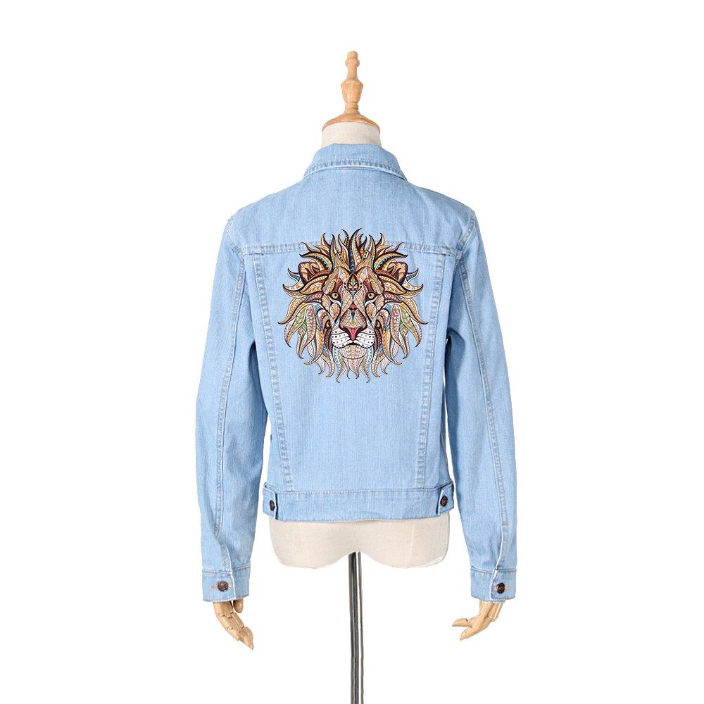 Pegatina transfer XXL parche termoadhesivo leon mandala para cazadoras camisetas, jerseys, sudaderas, mochilas.24 x 24 cm de CHIPYHOME: Amazon.es: Hogar