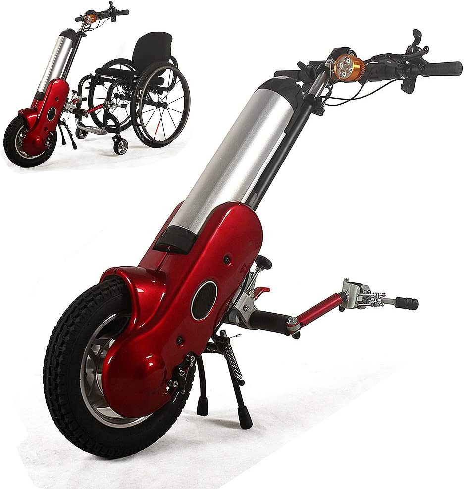 Kit de conversión de handbike eléctrico para Silla de Ruedas eléctrica con batería de Iones de Litio, Adecuado para sillas de Ruedas Deportivas