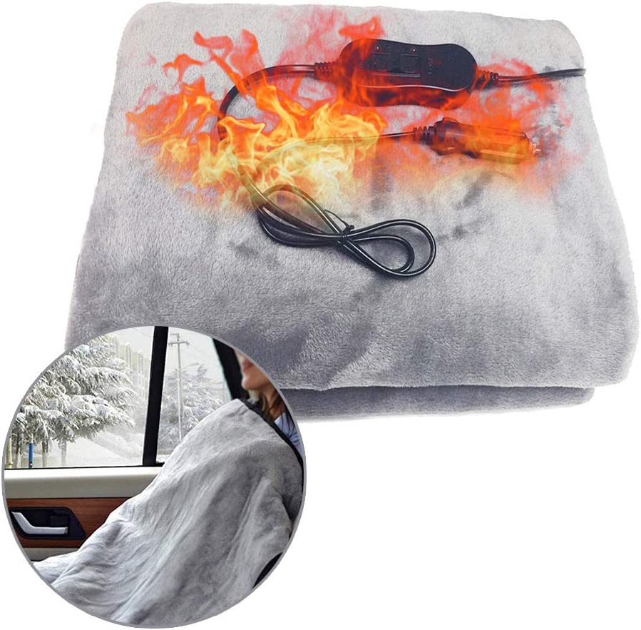 durch Flannel Electric Heated Blanket for Car Vehicle SUV RV Super Cozy Soft Heated Heated Blanket for Home Office