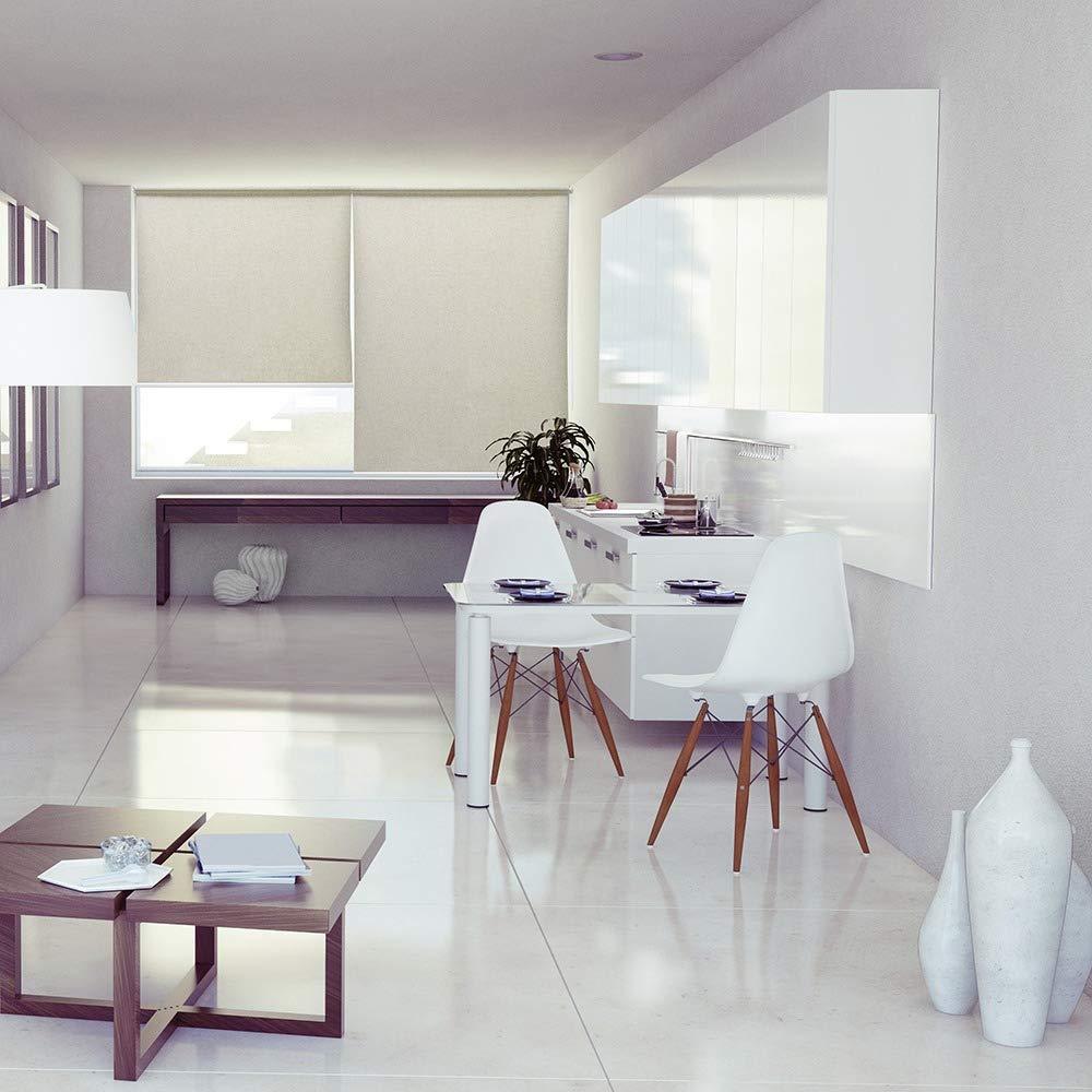 Persiana Rolo de Linho Horizontal 160x160cm Cazza Branca