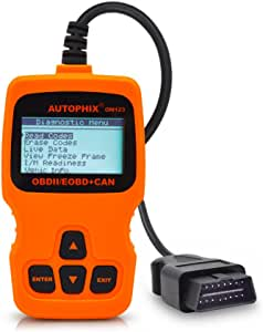 OM123 Vehicle Car Fault Code Reader - TekkPerry Mini Portable LCD OBDMATE OBDII OBD2 EOBD+CAN Scan Scanner Tool Car Vehicle Auto Engine Trouble Analyzer Tester Diagnostic Code Scanner Tool Orange
