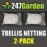 """247Garden 2-Pack Trellis Netting w/ 6"""" Square Mesh"""