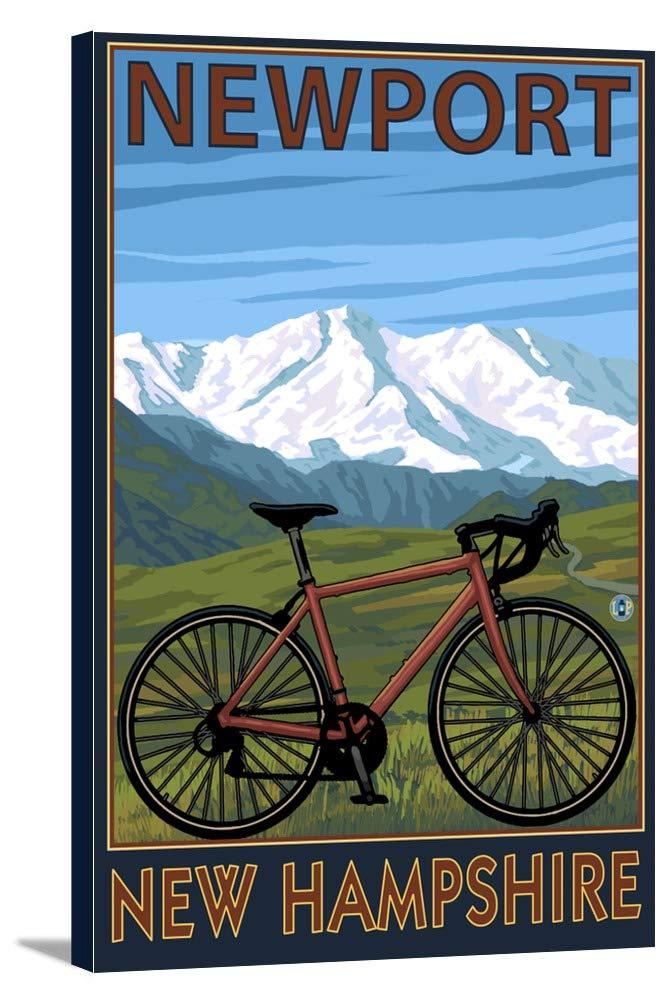 ニューポート、New Hampshire – Mountain Bike 12 x 18 Gallery Canvas LANT-3P-SC-48316-12x18 B018P53DUK  12 x 18 Gallery Canvas