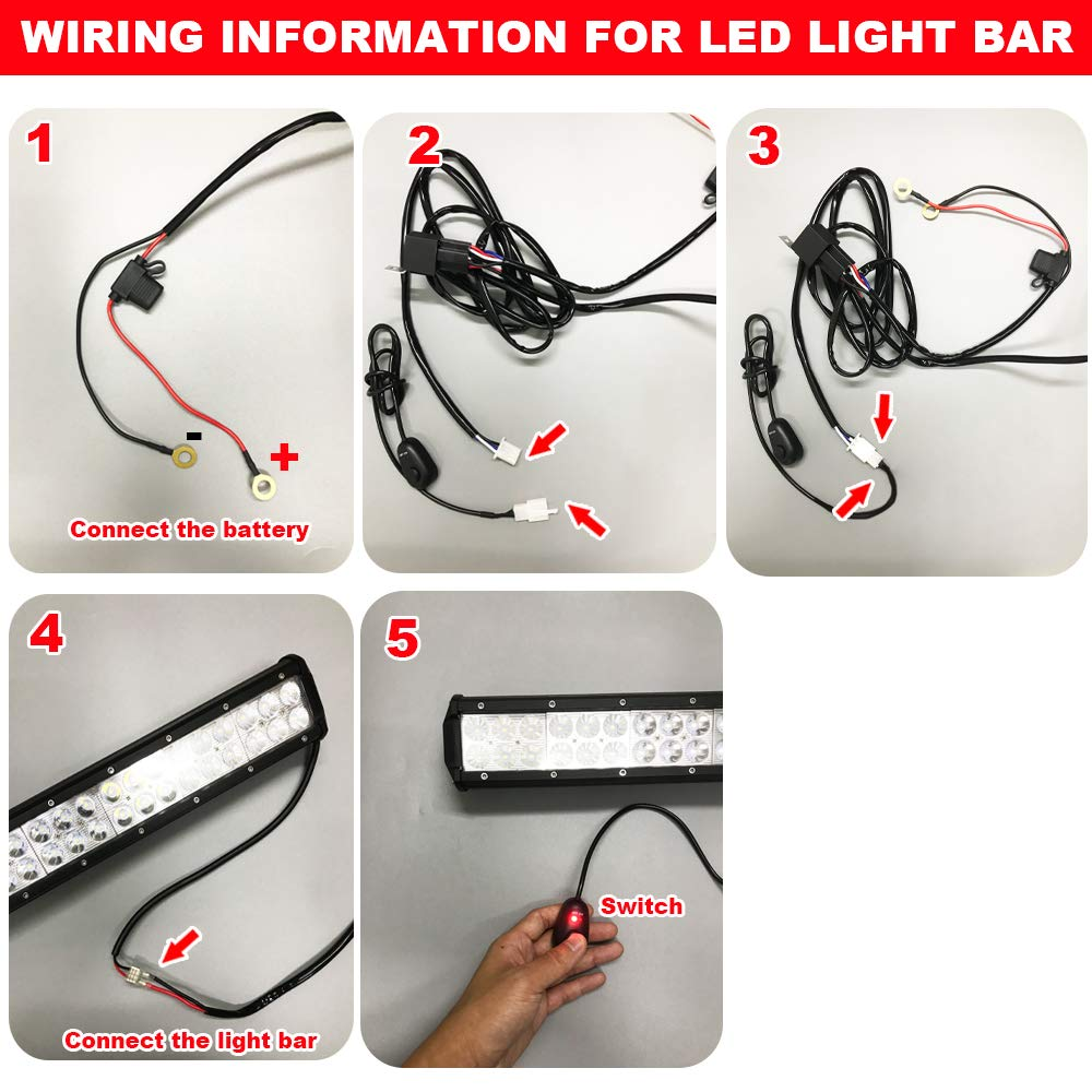 30 180w Curved Combo Led Light Bar Wiring Kit W Below A Switch To Lights Roof Mounting Brackets Fits Polaris Rzr Xp 1000 900 Models Automotive