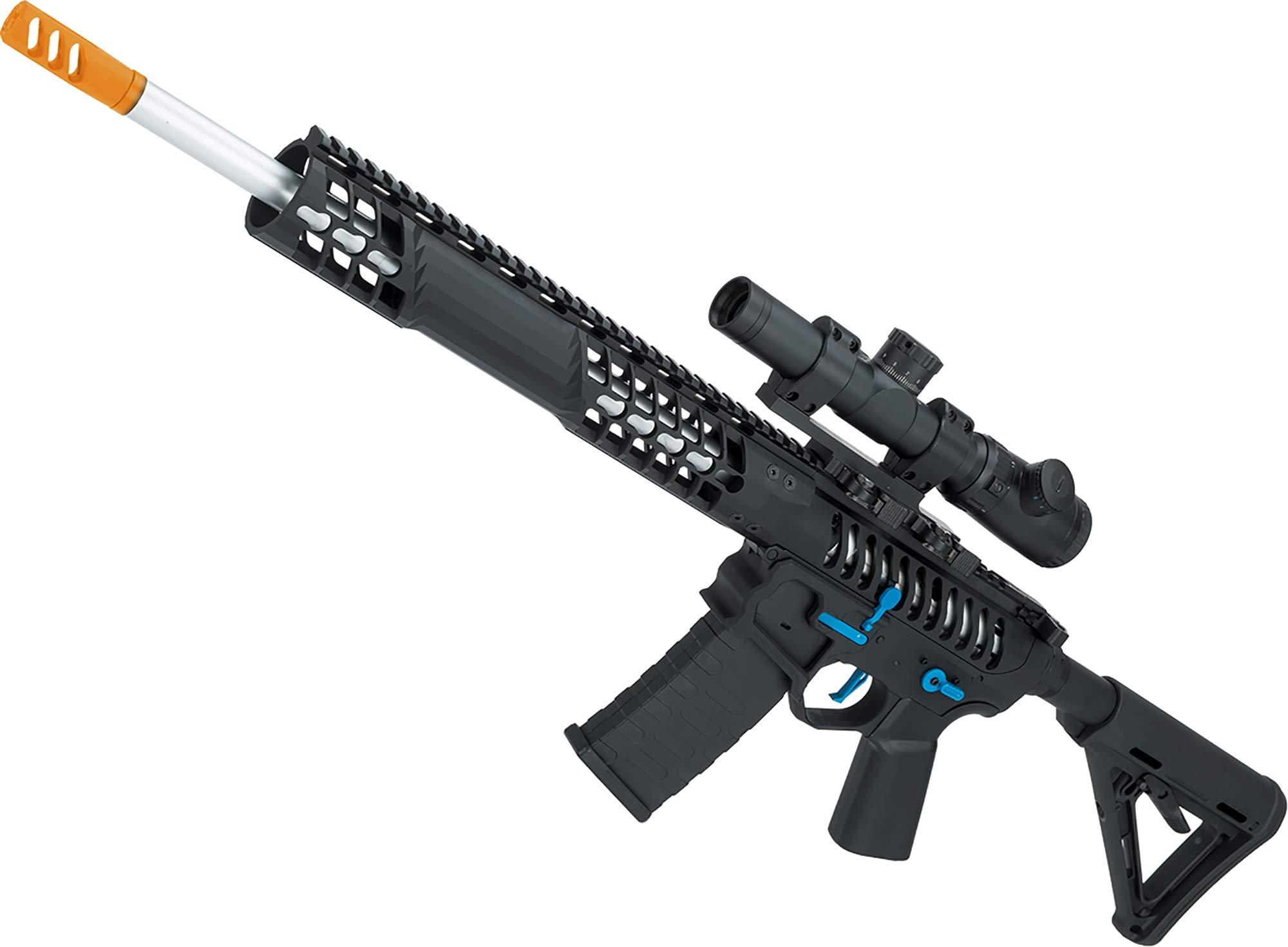 Evike EMG F1 Firearms BDR-15 3G AR15 Full Metal Airsoft AEG Rifle (Color: Black/Blue Selector/Magpul MOE Stock) by Evike