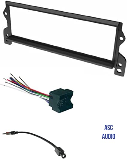 mini cooper steering wheel wiring harness amazon com asc car stereo install dash kit  wire harness  and  asc car stereo install dash kit