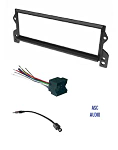ASC Car Stereo Install Dash Kit, Wire Harness, and Antenna Adapter for installing a Single Din Radio for Select Mini Cooper - Compatible Vehicles Listed Below