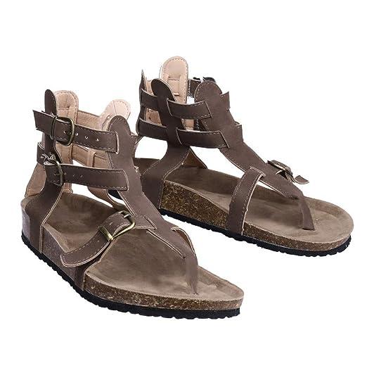 e208aa65a4810 Amazon.com: Women's Sandals Bummyo Ladies Sandals Fashion flat ...