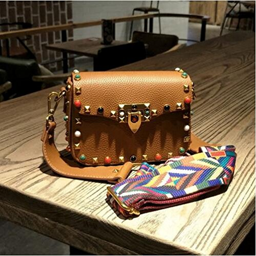 2017 Crossbody Fashion Green Leather Colorful New Colorful PU PU Messenger bags Designer Brand Handbag Brown Bags Ladies Autumn bag Women's Crossbody Dark 18x14x7CM Mini Bags Shoulder TqxtTHwgC