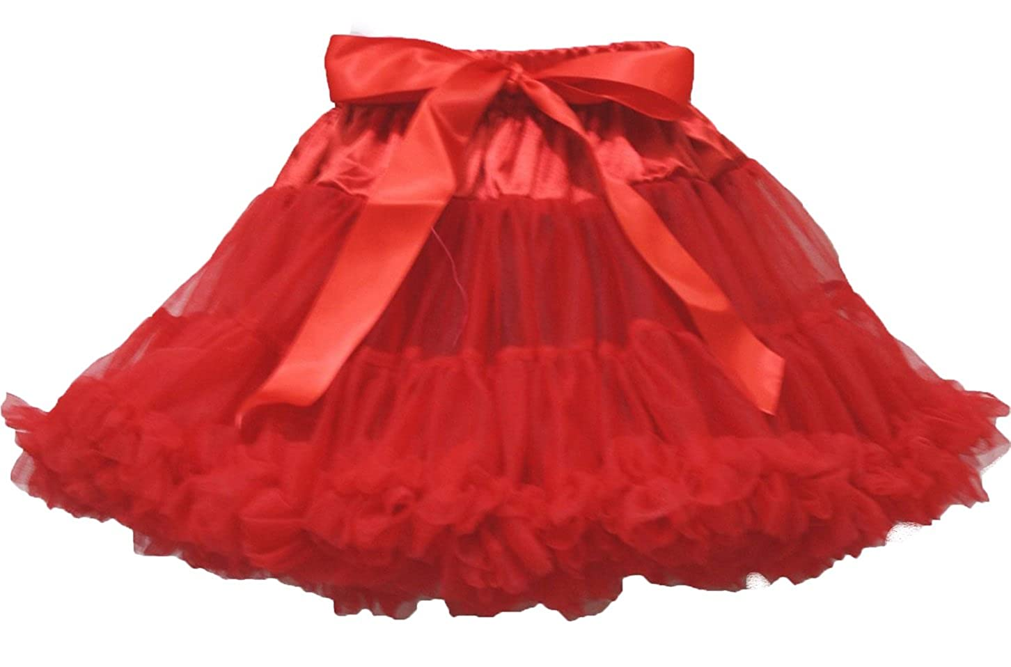 Rojo Pettiskirt tutú de Falda Vestido niña Ropa 1 - 8Y: Amazon.es ...