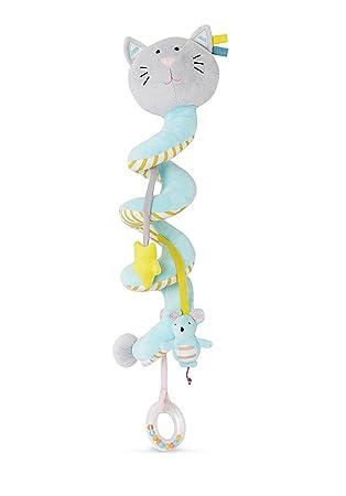 VERTBAUDET Espiral de Actividades Motivo de Gato para bebé Azul Claro Liso con Adorno Unica: Amazon.es: Juguetes y juegos