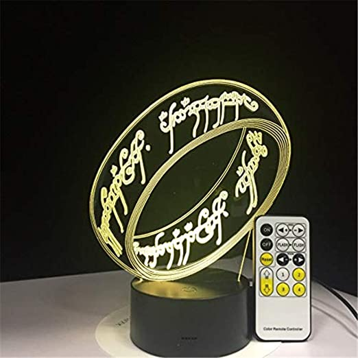 Hydyi Herr Der Ringe 3d Illusion Schreibtischlampe 7 Farbe 3d Lampe Kinder Geschenk Touch Nachtlicht Fur Kinder Urlaub Geschenk Amazon De Kuche Haushalt