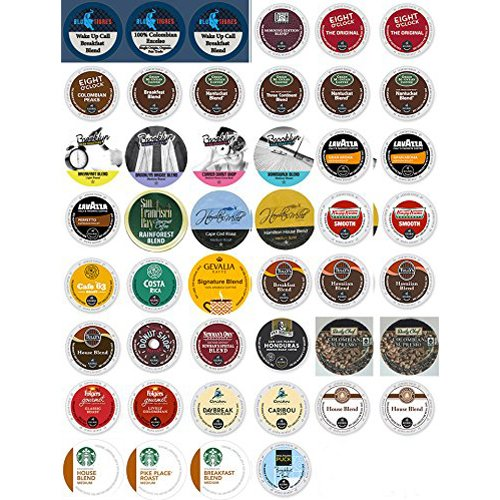 46-Count K-Cups And Single Serve Coffee Cups DeLuxe Light & Medium Roast Variety Pack For K-Cup Brewers (K Cup Variety Pack Light Roast)