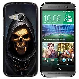 // PHONE CASE GIFT // Duro Estuche protector PC Cáscara Plástico Carcasa Funda Hard Protective Case for HTC ONE MINI 2 / M8 MINI / Cráneo Parca /