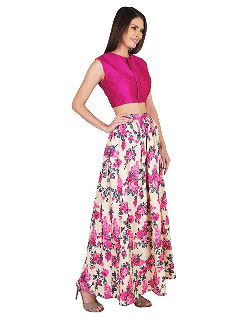 ea64fc694f Ethnic Crop Top And Skirt Set Online India – DACC