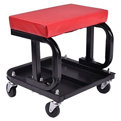 MOTOOS Rolling Creeper Seat Mechanic Stool Chair Repair Tools Tray Shop Auto Car Garage with 300 lbs Capacity: Automotive