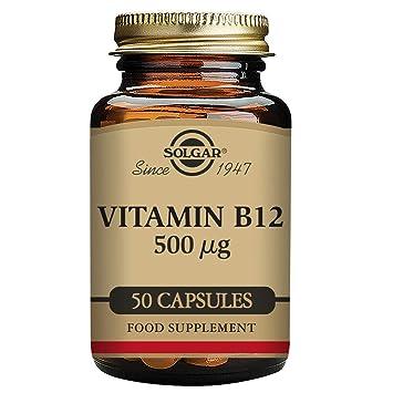 Solgar Vitamina B12 500 µg Cápsulas vegetales - Envase de 50